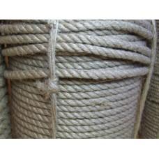 Веревка джутовая, диаметр 8 мм, длина 100 м, 5 кг