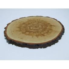Спил круглый из осины 100-150 мм с корой