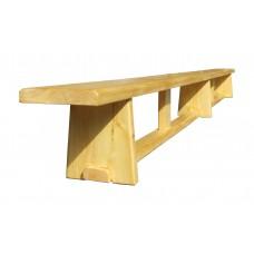 Скамейка гимнастическая деревянная 4000 мм