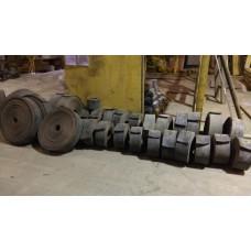 Лента конвейерная, транспортерная Б/У 100х1000 мм (толщина 12-14 мм)